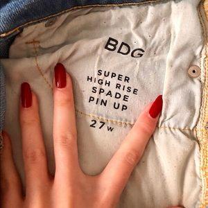 BDG Shorts - BDG High-rise Jean Shorts